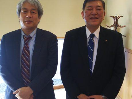 野澤と石破さんの写真