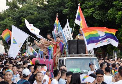 台湾でおこなわれたパレード